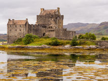 Kyle of Lochalsh. Scotland, UK. September 19th 2015. Eilean Donan Castle at Low Tide Stock Photography
