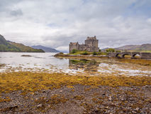 Kyle of Lochalsh. Scotland, UK. September 19th 2015. Eilean Donan Castle at Low Tide Royalty Free Stock Images