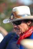 Kyle Petty Charity Ride. Charlotte NC - July 17 2008. Richard Petty chats during a stop of the Kyle Petty Charity Ride in support of the Victory Junction Gang Stock Photo