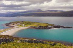 Kyle of Tongue on the north coast of Sutherland, north west Scot royalty free stock photography