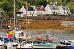Kyleakin village, Skye, Scotland stock images