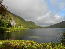 Kylemore Abbey panorama stock photo