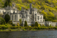 Kylemore修道院,爱尔兰的特写镜头图片 库存图片
