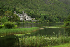 Kylemore abbey. View of kylemore Abbey in Connemara, Ireland Stock Photo