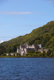 Kylemore Abbey. Beautiful Castle At A Lake Beside Mountain And Blue Sky Royalty Free Stock Photography