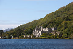 Kylemore Abbey. Beautiful Castle At A Lake Beside Mountain Royalty Free Stock Photography