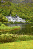 Kylemore Abbey. Overcast view of Kylemore Abbey in summer, Ireland Stock Photo