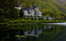 Kylemore Abbey. Overcast view of Kylemore Abbey in summer, Ireland Royalty Free Stock Photos