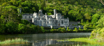 Kylemore Abbey. The historic Kylemore Abbey in the Irish countryside Royalty Free Stock Images
