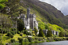 Kylemore Abbey. (Benedictine monastery founded in 1920 on the grounds of Kylemore Castle), Connemara, Ireland Royalty Free Stock Photos