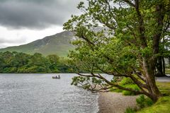 Lake Pollacapull at Kylemore Abbey, County Galway, Ireland stock photo