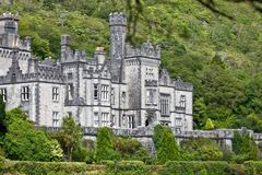Detail of Kylemore Abbey, Connemara, west of Ireland. Kylemore Abbey is a Benedictine monastery founded in 1920 on the grounds of Kylemore Castle, in Connemara Stock Photography