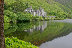 Kylemore Abbey Castle, Galway, Ireland. View of the Kylemore Abbey Castle, Galway, Ireland royalty free stock photography
