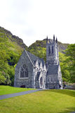 Kylemore Abbey Church. KYLEMORE, IRELAND - MAY 16, 2011: Kylemore Abbey Church. Along the shores of Lough Pollacapull the neo-Gothic Church has been described as Stock Photo