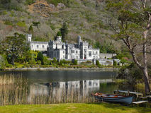 Kylemore Abbey, Co. Galway, Ireland. View of the famous abbey in Connemara. founded in 1920 on the grounds of Kylemore Castle as a monastery for Benedictine nuns royalty free stock photography