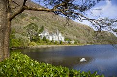 Kylemore Abbey Connemara Co Galway, Ierland stock afbeelding