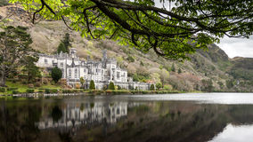 Kylemore Abbey, Connemara, Co. Galway, Ireland. Reflection of Kylemore Abbey, Connemara, Co. Galway, Ireland Stock Images