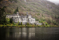 Kylemore abbey - Connemara & Cong - Ireland. A walk in Kylemore Abbey park. Beautiful gardens and   a villa from fairytales Stock Images