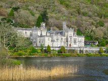 Kylemore Abbey Connemara County Galway Ireland Royalty-vrije Stock Foto's