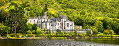 Kylemore Abbey in Connemara, County Galway, Royalty Free Stock Photo