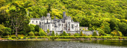 Kylemore Abbey in Connemara, County Galway, Ireland. Stock Photos