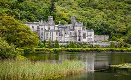 Kylemore Abbey, in Connemara, County Galway, Ireland. Kylemore Abbey is a Benedictine monastery founded in 1920 on the grounds of Kylemore Castle, in Connemara royalty free stock image