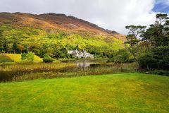 Kylemore Abbey in Connemara, County Galway, Ireland. Royalty Free Stock Images