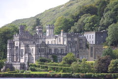 Kylemore Abbey Connemara , Ireland. Kylemore Abbey is a Benedictine monastery founded in 1920 on the grounds of Kylemore Castle, in Connemara, County Galway Royalty Free Stock Photo