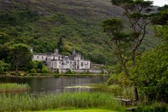 Kylemore Abbey in Connemara, Ireland. royalty free stock photos