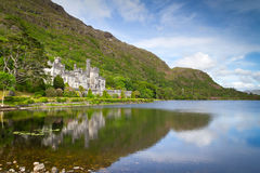 Kylemore Abbey in Connemara mountains Stock Images