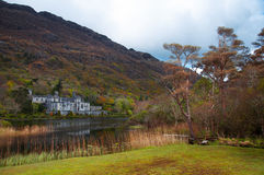Kylemore Abbey. In Connemara mountains in Ireland Royalty Free Stock Photo