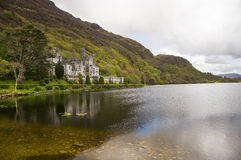 Kylemore Abbey. In Connemara mountains in Ireland Royalty Free Stock Photos