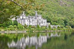 Kylemore Abbey, Connemara, west of Ireland. Kylemore Abbey is a Benedictine monastery founded in 1920 on the grounds of Kylemore Castle, in Connemara, County Stock Photo