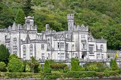 Kylemore Abbey, Connemara, west of Ireland. Kylemore Abbey is a Benedictine monastery founded in 1920 on the grounds of Kylemore Castle, in Connemara, County Stock Image