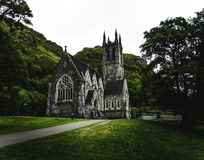 Kylemore Abbey, the gothic church, Connamara royalty free stock photography