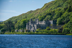 Kylemore Abbey with green water lake , Mayo county , Ireland Stock Photography