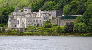Kylemore Abbey Ireland stock photography