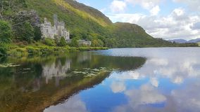 Kylemore abbey. View in Ireland Royalty Free Stock Photos