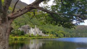 Kylemore abbey. View in Ireland Royalty Free Stock Photography