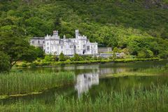 Kylemore Abbey on the lake. National park Connemara in Ireland Stock Images