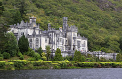 Kylemore Abbey on the lake. Stock Photo