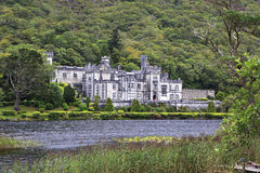 Kylemore Abbey on the lake. Stock Image