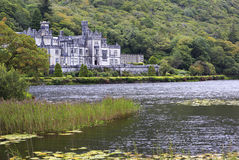 Kylemore Abbey on the lake. Royalty Free Stock Photography