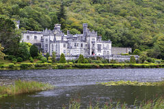 Kylemore Abbey on the lake. Stock Photos