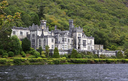 Kylemore Abbey on the lake. Royalty Free Stock Image