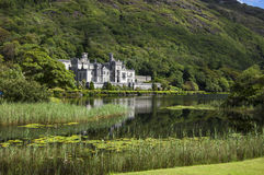 Kylemore Abbey. Lateral view, Connemara Ireland Royalty Free Stock Photo