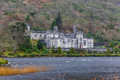 Kylemore Abbey in Ireland. Kylemore abbey the most famous abbey in Ireland Royalty Free Stock Photos