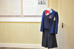 Kylemore Abbey, Pollacappul, Connemara, Co. Galway,  Ireland Jun. E 2017 ,Kylemore Abbey & Victorian Walled Garden Girl,Kylemore Abbey old school uniform Stock Photo
