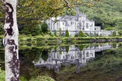 Kylemore Abbey. Pollacappul Ireland, - July 20, 2016: The famous Kylemore Abbey in Connemara, County Galway, Ireland Stock Image