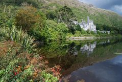 Kylemore abbey  - reflex in lake Royalty Free Stock Photography